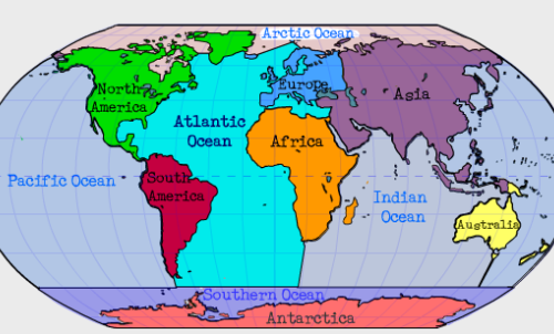 Can you name the 7 continents and 5 oceans? - St Mary & St ...